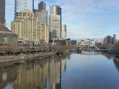 View of The Yarra River in Melbourne