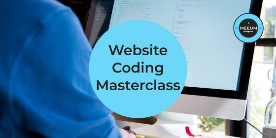 Promotional artwork for Website Coding Masterclass
