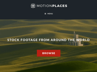 Scrrenshot of Motion Places website