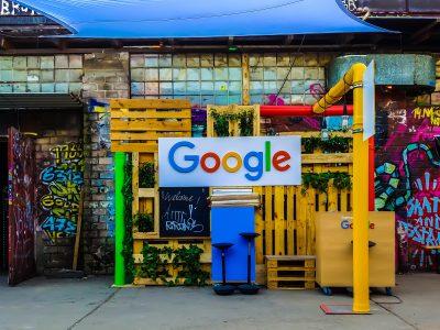 google logo on a wall